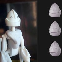 Small Robot head 3D Printing 56379