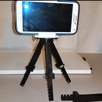 Small Adjustable Tripod (spring loaded) 3D Printing 56424