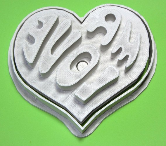Mr Love cookie cutter and press 3D Print 56459