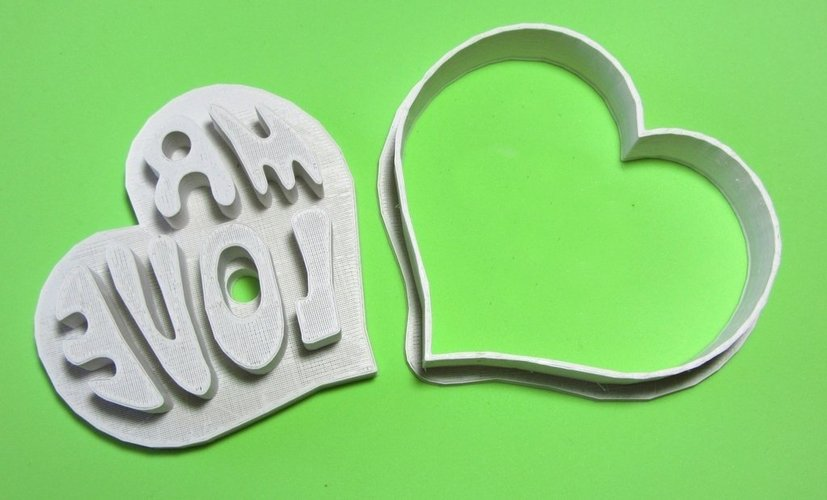 Mr Love cookie cutter and press 3D Print 56462