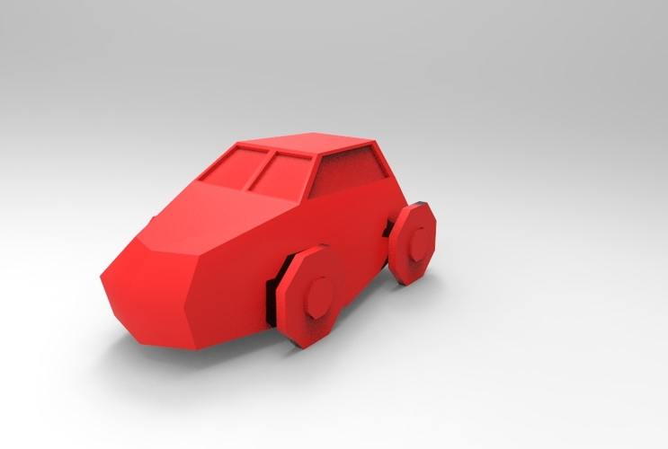 Low Poly Car 3D Print 5648