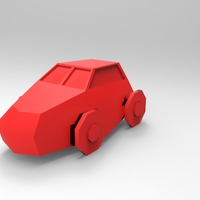 Small Low Poly Car 3D Printing 5648