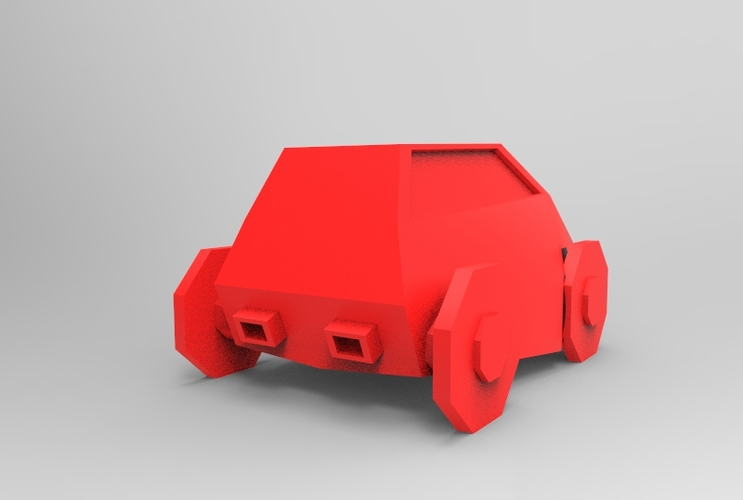 Low Poly Car 3D Print 5649