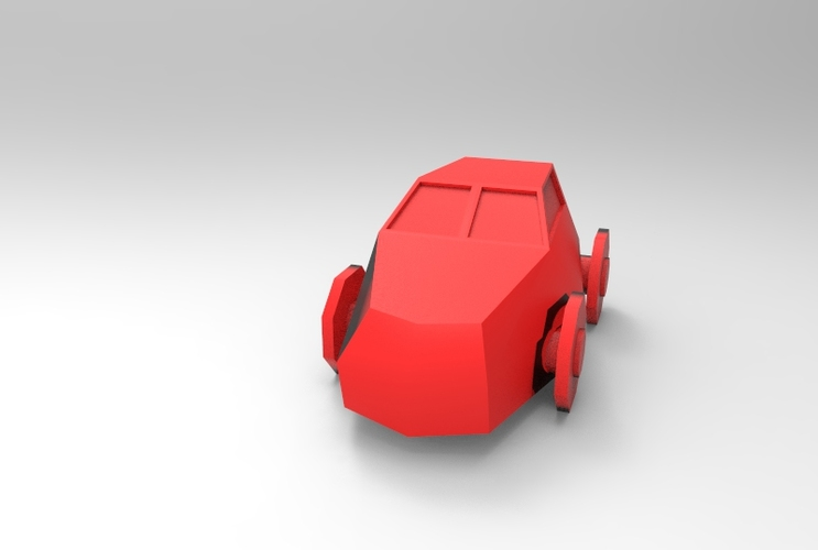 Low Poly Car 3D Print 5650