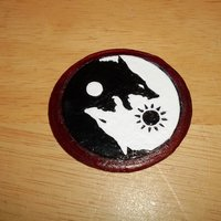 Small SKOLL and HATI  belt buckle 3D Printing 56528