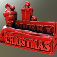 Small Merry Christmas 3D Printing 56554