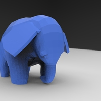 Small Low Poly Baby Elephant 3D Printing 5663