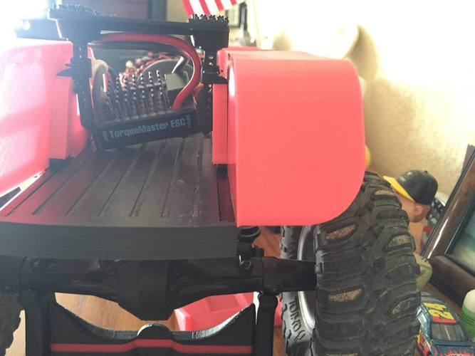 Axial SCX-10 Rear Bed and Fuel Cell 3D Print 56659