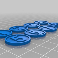 Small Tabletop game tokens and markers 3D Printing 56711