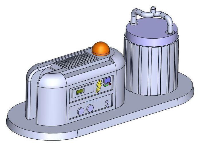 Energy Pod 3d printed terrain: fuel cell / energy podotto_beilman | pinshape