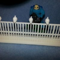 Small Wargame Terrain, Fence with Skulls 3D Printing 56832