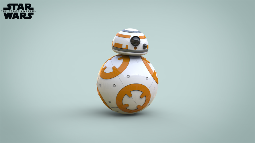 BB8 DROID - STAR WARS: THE FORCE AWAKENS 3D Print 56939