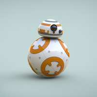 Small BB8 DROID - STAR WARS: THE FORCE AWAKENS 3D Printing 56939