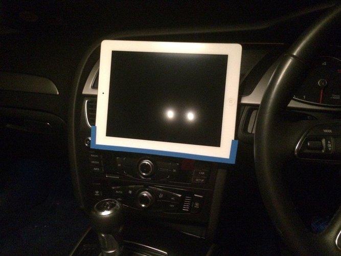 3d Printed Ipad Car Cd Mount By Mattk Pinshape
