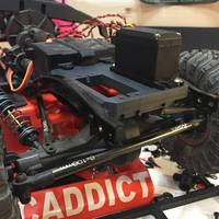 Small SCX-10 Chassis Mount Servo/Servo Winch Mount 3D Printing 57015