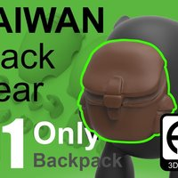 Small Taiwan Black_bear [Only Backpack] 3D Printing 57028