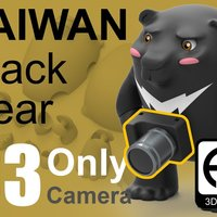 Small Taiwan Black_bear [Only Camera] 3D Printing 57049