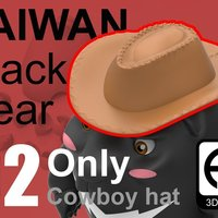 Small Taiwan Black_bear [Only Cowboy hat] 3D Printing 57092
