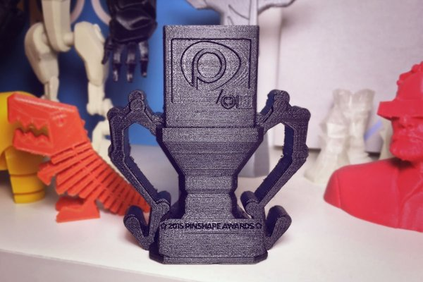 Medium Pinshape Awards Trophy 3D Printing 57132