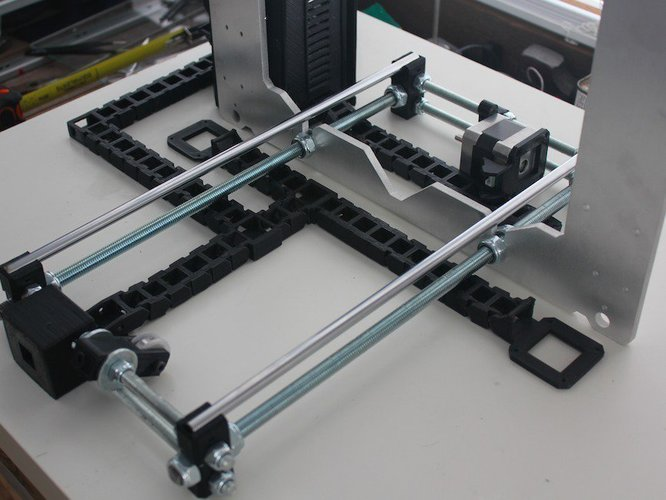 Cable Chain System | Revolution Media Groups Rep Rap Rework i3 3D Print 57187