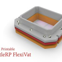 Small LittleRP PLA printable FlexiVat   3D Printing 57228
