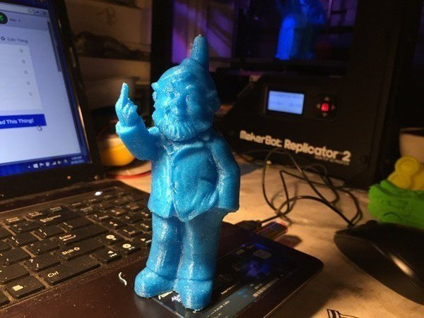 Medium Rude gnome 3D Printing 57427