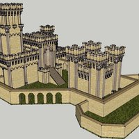 Small Chateau medieval 3D Printing 57443