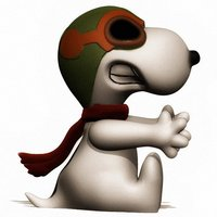 Small Snoopy 3D Printing 57489
