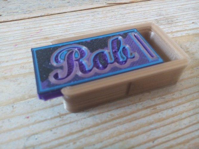 3D Printed Cufflink giftbox by els_meulendijks | Pinshape