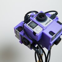 Small GoPro Hero 3/4 360 Spherical Rig V2 3D Printing 57776