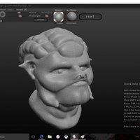 Small Alien Head 3D Printing 57860