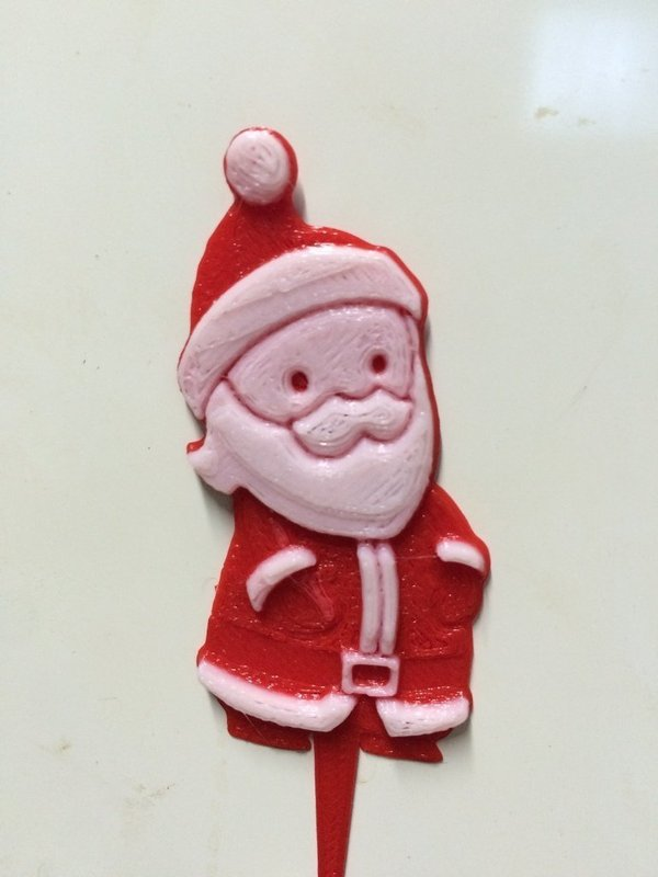 Medium Santa from an Image to a Cake Topper 3D Printing 57949