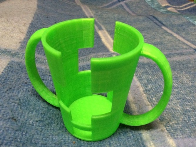 Hand Assist Cup Holder - Tapered Variant 3D Print 57953