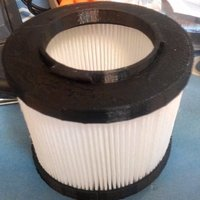 Small HEPA filter mount for portable vacuum cleaner 3D Printing 57963