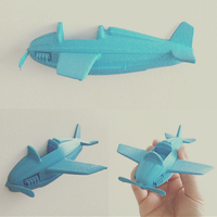 Small Little plane 3D Printing 58081