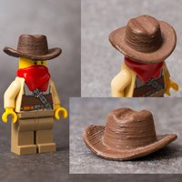 Small LEGO-compatible cowboy hat 3D Printing 58088