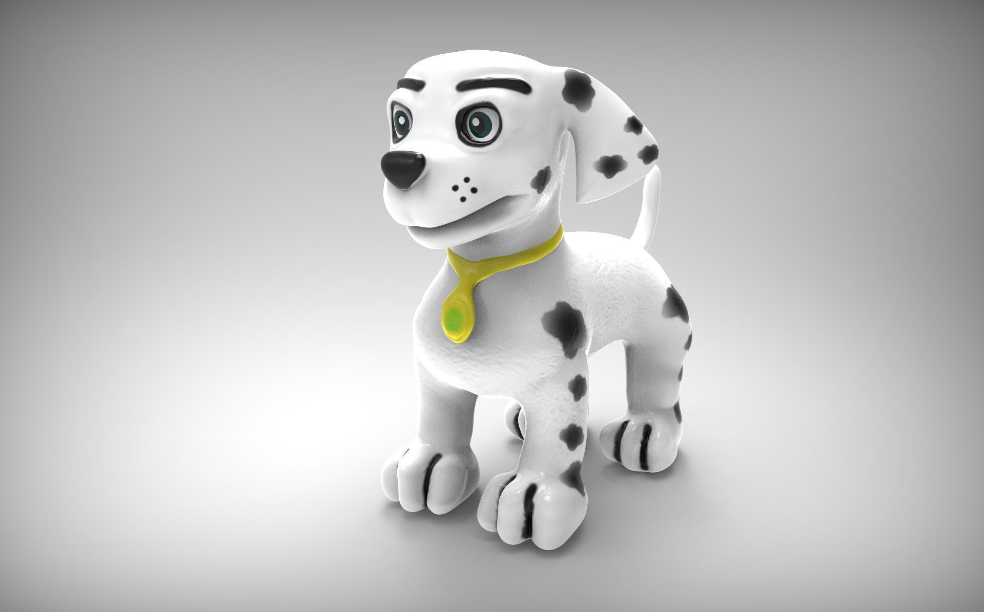3D Printed Marshall Paw patrol Puppy Dog by XeratDragons  ad0b08aecbdf