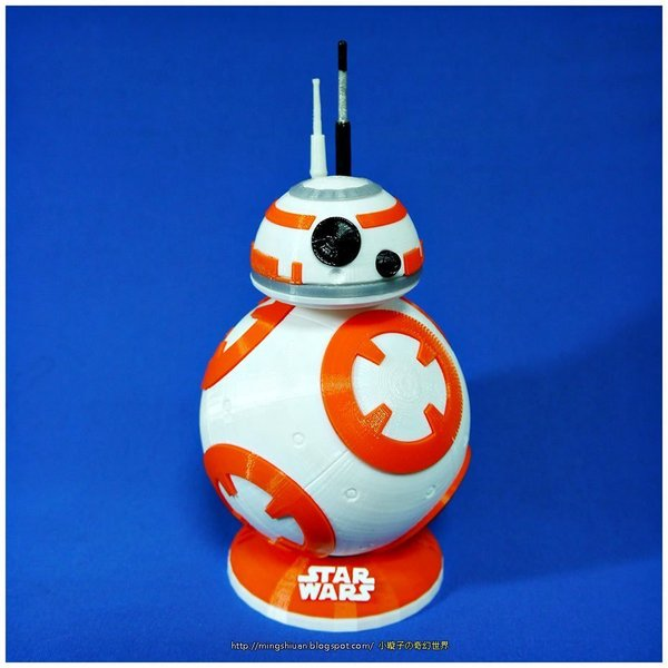 Medium BB8 DROID - STAR WARS: THE FORCE AWAKENS - Antennas 3D Printing 58112
