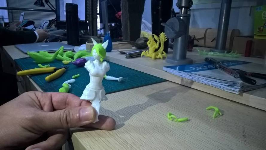 The newAhri the Nine-Tailed Fox 3D Print 58211