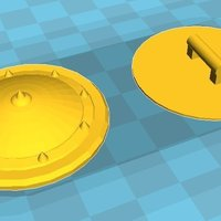 Small Round medieval shield for Playmobil 3D Printing 58275