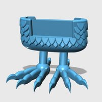Small Bird Feet Phone Stand 3D Printing 58279