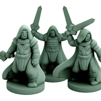 Small Khem Ra Khu Monks (18mm scale) 3D Printing 58434