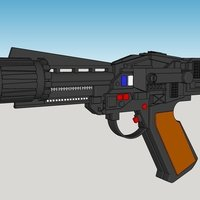 Small Colonial Blaster 3D Printing 58481
