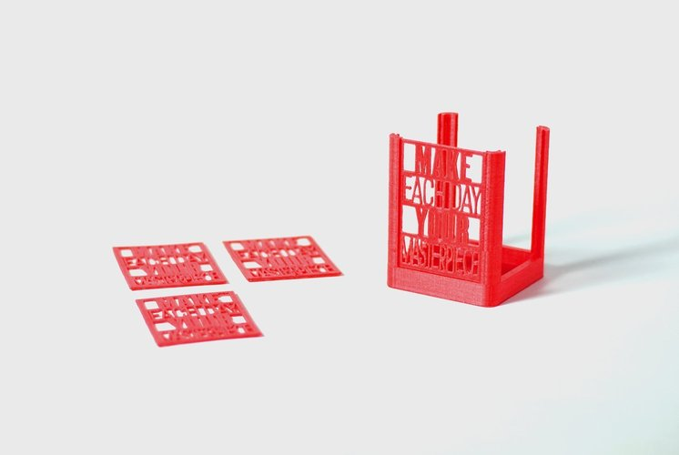 Daily Masterpiece Desk Organizer 3D Print 58788