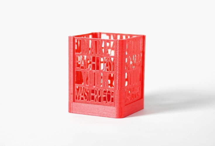 Daily Masterpiece Desk Organizer 3D Print 58790