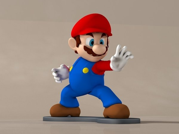 Medium High-Res Super Mario 3D Printing 58918