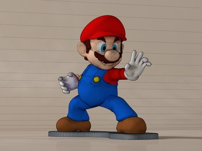 High-Res Super Mario 3D Print 58920