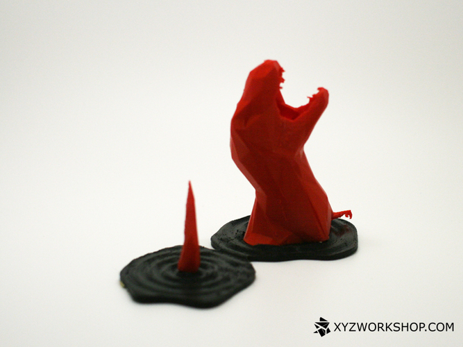 Sinking T-Rex Pen Holder (Low Poly) 3D Print 5898