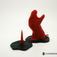 Small Sinking T-Rex Pen Holder (Low Poly) 3D Printing 5898
