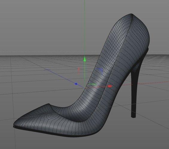 3D Printed High Heels Shoes